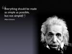 O simples de Einstein
