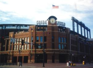 Imagem do Coors Field Stadium, Denver, CO.