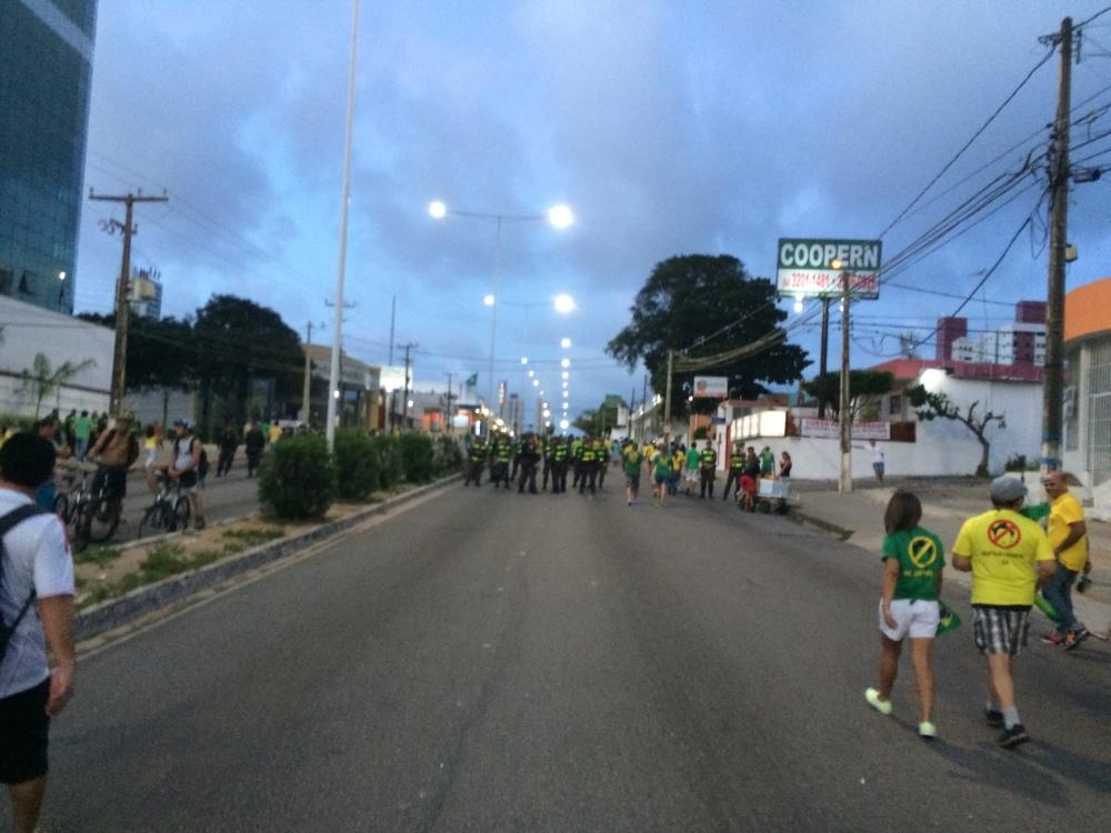 O apoio da PM do RN às manifestações populares (2)