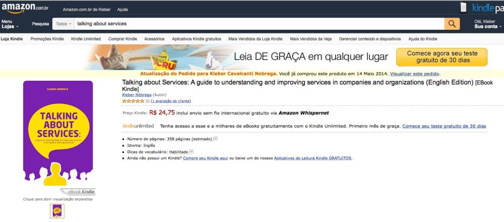 Em caso de pedido em duplicidade a Amazon alerta o cliente.