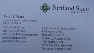 Cartão disponibilizado pelo Segurança (identificação  descaracterizada)