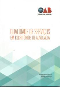 """Capa do livro """"Qualidade de Serviços em Escritórios de Advocacia"""""""